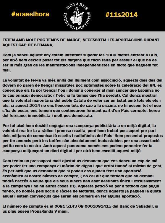 ASSOCIACIÓ de MOTARDS INDEPENDENTISTES de CATALUNYA